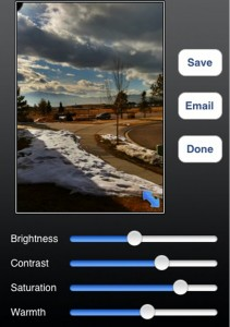Photo adjustments can be made directly in Pro HDR before saving.