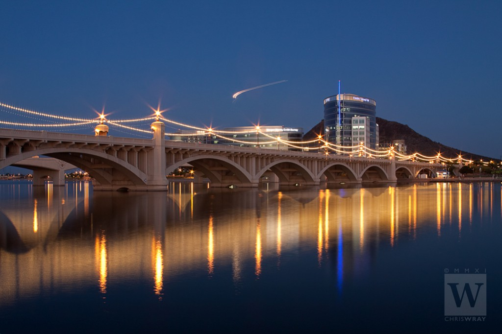 Mill Avenue Bridge, Tempe Town Lake, Tempe, AZ