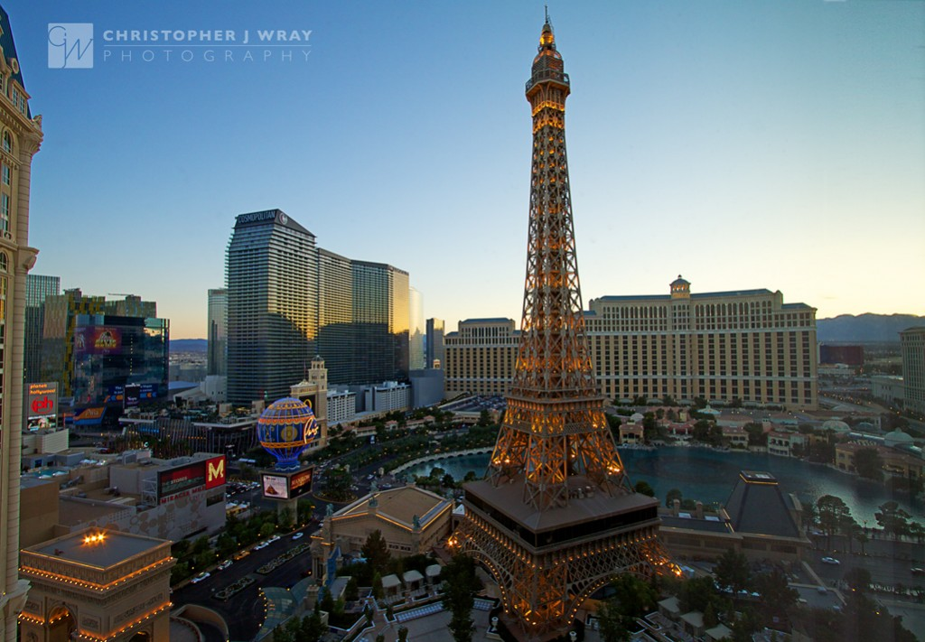 Paris Las Vegas by twilight